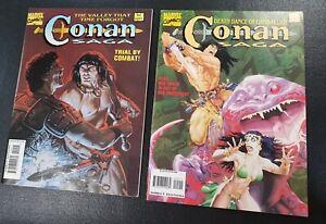 CONAN SAGA MARVEL Comics #90  # 91 Oversized Magazines 1994 NM / Unread