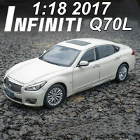 ORIGINAL 1:18 INFINITI Q70L Q70 2017 White Diecast Model Car Toys For Boys&Girls