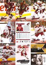 2008-09 UD Fleer Ultra Phoenix Coyotes Master Team Set w/ RC's (10)