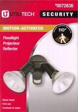 Utilitech 0072836 Motuin-Activated Floodlight Fixture Black - New!