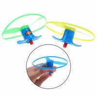 Outdoor Dragonfly Launcher Kid Toy Hand Twisting Flying Saucer Throw Disc  gi