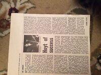 U1-6 ephemera 1971 article singer hoyt axton