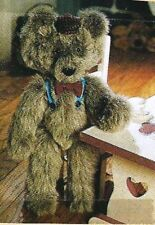 "SEWING PATTERN for a 20"" Teddy BEAR Arthur The Country Bear  jointed with hat"