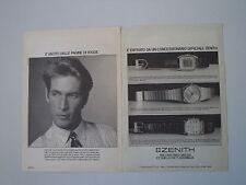 advertising Pubblicità 1984 OROLOGI ZENITH COSMOPOLITAN/ESPADA/SILHOUTTE
