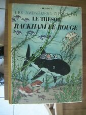 TINTIN  HERGE RACKAM LE ROUGE EDITION B1 1946 TBE