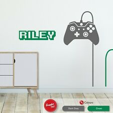 Gaming Custom Name Wall Art Sticker Boys Bedroom Games Room Xbox One Wall Decal