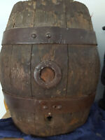 Antique primitive staved WOODEN BARREL CASK very old LOCAL PICKUP ONLY
