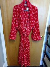 CONCIERGE COLLECTION SOFT & COZY ROBE RED WITH SNOWFLAKES 2X/3X