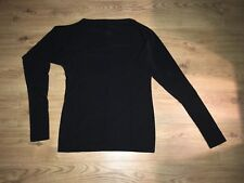 Ladies Black Multiway Tunic Top Boat Neck Long Sleeve Size 18 XL