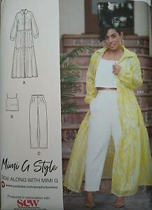 2021 Simplicity by Design Mimi G Dress Top Trousers Sewing Pattern K9114