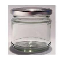 45 X 30ml small 1oz MINI GLASS JARS SILVER LIDS Jam WEDDING FAVOURS HAMPERS 1 oz
