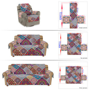 Bohemian Mandala Floral Sofa Covers Settee Couch Protect Slipcover 1/2/3 Seater