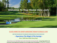 GOLF EQUIPMENT WEBSITE BUSINESS FOR SALE. FULLY STOCKED. MILLIONS OF ITEMS.