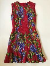 ~ DOLCE & GABBANA RED FLORAL PRINT SLEEVELESS DRESS (FROM THE RUNWAY!) 38