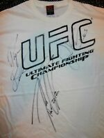 NWOT Authentic Men's UFC MMA Tapout T-Shirt SIGNED AUTOGRAPHED AUTO X 3 2XL