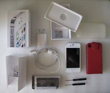 Boxed Smartphone APPLE iPhone 4S White 16GB A1387 with accessories
