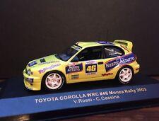 *RARE*  Toyota Corolla WRC Valentino Rossi 2003 Monza Rally. VR46,