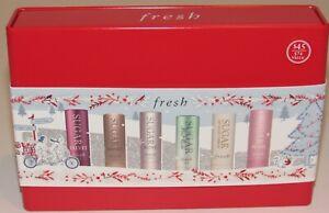 Fresh F21C Sugar Lip Treatment 6 Tin Set Rose Honey Velvet Mint Rush Petal SPF