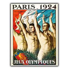 Juegos Olímpicos de París 1924 Letrero de Metal Placa de pared anuncio cartel impresión de viaje vintage