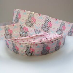 Per Metre - Me to You- Pink 22mm - Printed Grosgrain Ribbon / Party Cake / Bow