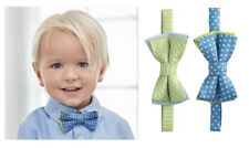 Elegant Baby Boy Easter or Holiday Blue Dots or Green Stripes Zoom Bow Tie