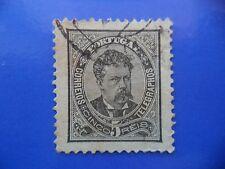 PORTUGAL STAMP - 1882/84 KING LUIS I (NEW DRAW / NOVO DESENHO) - 5 REIS BLACK