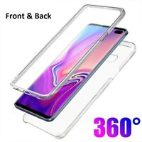 For Samsung Galaxy S10 S10e S10 Plus Front and Back Case Clear Shockproof Cover