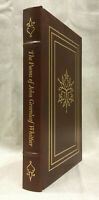 The Poems of John Greenleaf Whittier Easton Press American Literature Leather Co