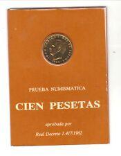 ESPAÑA 1982 CARTERA DE 100 PESETAS PRUEBA  NUMISMATICA