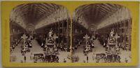 Londra Esposizione Universale Da 1862 la Nef UK Foto Stereo Vintage Albumina