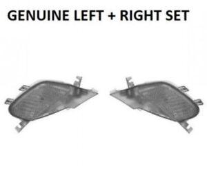 Genuine Porsche 955 (03-06) Side Marker Light Left + Right Set Front CLEAR OEM