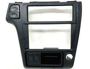 01-04 Nissan Pathfinder Infiniti QX4 Dash Radio Center Bezel Black Trim OEM