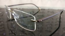 MENS LADIES RIMLESS TITANIUM BROWN OPTICAL EYE GLASSES ULTRA LIGHT FRAME 6065