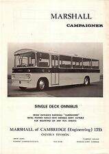 Bus Manufacturer Specification Sheet ~ Marshall Campaigner Single Decker PSV
