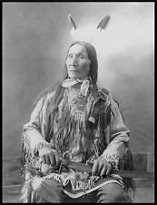 "1900 Sioux Native American Indian, CHIEF, Yellow Hair, antique, 24""x18"" Photo"