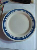 """Oxford Brazil #7870 Lot of 4 Vintage 9"""""""" Salad Plate Blue Stripe Design HTF"""