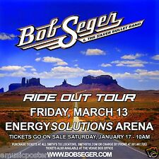 "BOB SEGER ""RIDE OUT TOUR""2014 SALT LAKE CITY CONCERT POSTER-Detroit Classic Rock"