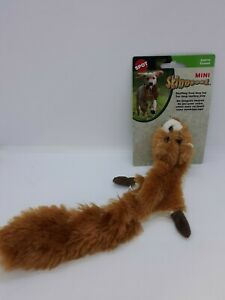 "NEW Spot Skinneeez Mini 15"" Stuffing Free Dog Toy w/ 2 Squeakers ~ Squirrel"