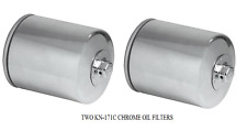 2 K & N Oil Chrome Filters # KN-171C for BUELL & HARLEY-DAVIDSON® Motorcycles