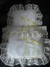 IVORY & LEMON DOLLS PRAM SET..IDEAL FOR SILVER CROSS COACH BUILT PRAMS