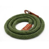 Green rope 114cm Mini handmade Camera neck strap for nikon canon fuji DSLR NEX