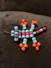 Paracord Keychain-beaded multi-colored gecko