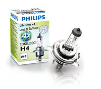 Long Life Eco Vision Single Headlight Bulb x2 H4 12V 60/55W Philips (2x bulbs)