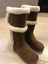 Girls Michael Kors Suede Boots Alina2 Chestnut Us 4