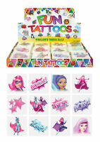 72 Super Girls Temporary Tattoos - Pinata Toy Loot/Party Bag Fillers Kids Hero