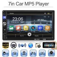 7''2DIN Bluetooth In Dash Car Stereo MP5 Player FM Radio USB Head Unit W/ Camera