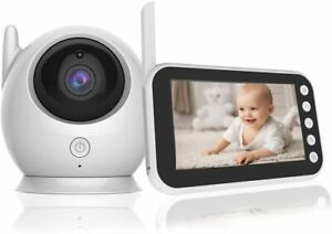 """BABY MONITOR 4.3"""" LCD Screen Wireless Temperature Night Vision 8 Lullabies"""
