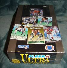1991 Fleer Ultra Football Trading Cards Item #555, 36 Count, Collectible