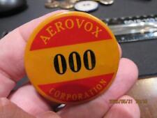 Aerovox Corporation Company Pinback Pin Whitehead & Hoag  (20E4)