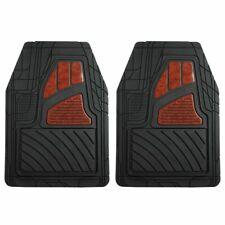 Pilot Automotive Universal Wood Design Car Floor Rubber Mat FM-27E - Set of 2